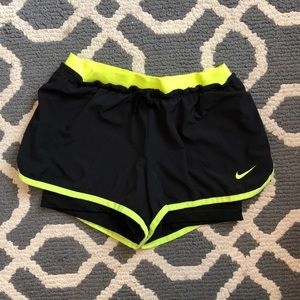Nike Running Shorts with Compression Shorts Inside